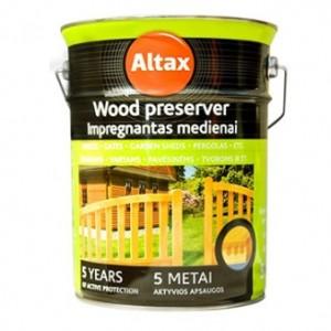 """Medienos impregnantas ALTAXIN, 10 l, ruda spalva, statybinė prekės, parduotuvė, Trakai, """"KOVAS"""" UAB"""