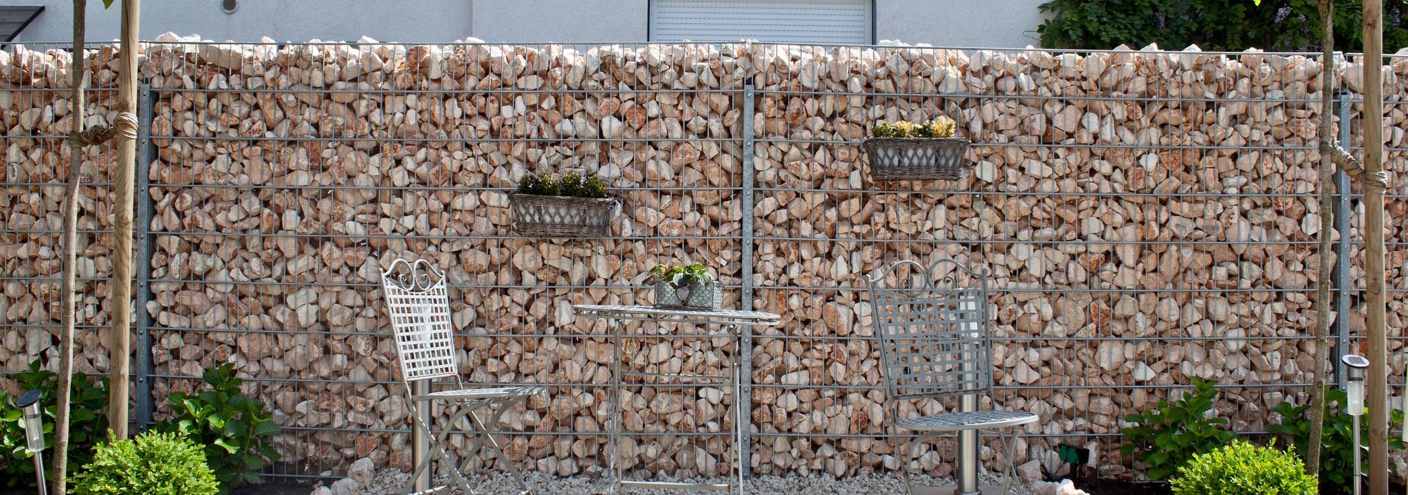 Gabionai, tvoros, dekoratyviniai elementai, atraminės sienutės, Kovas UAB, Trakai