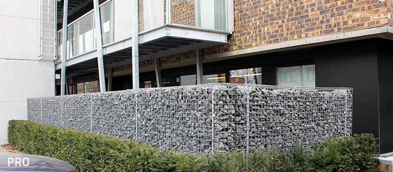 Dekobox Gabiono konstrukcija, gyvenamasis daugiaaukštis, kiemas tvora
