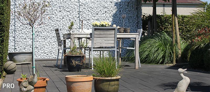 Dekobox Gabiono konstrukcijos, gyvenamojo namo kiemo tvora