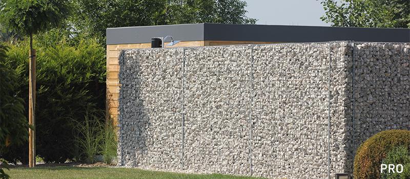 Dekobox Gabiono konstrukcijos, gyvenamasis namas, kiemo tvora