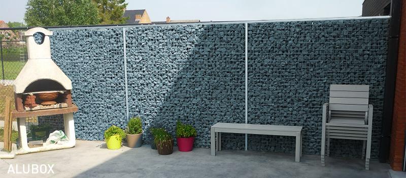 Dekobox Gabiono konstrukcija, dekoratyvinė tvora kieme