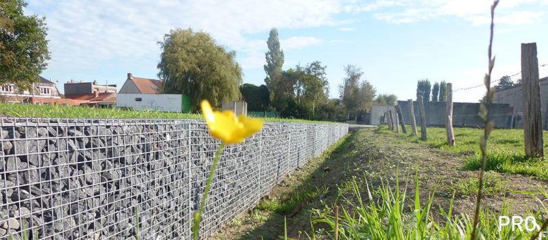 Dekobox, Gabiono konstrukcija, tvora, dekoratyvinė skalda, akmenys